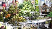 在越南胡志明市的Ben Thanh Market Street食品午餐
