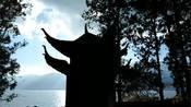 大理洱海海东天镜阁,南海普陀山石骡子背后立在水面上的定海神针