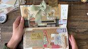 奕颖。礼物记录。TN标准本拼贴。复古手帐。保留礼物的包装。简单的口袋制作。
