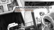 漫画绘制过程-场景绘制01 /延时录屏 Manga page drawing process
