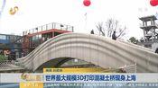 [早安山东]世界最大规模3D打印混凝土桥现身上海