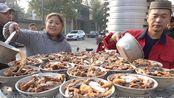 河南开封传统清真十大碗,320一桌12碗肉,600人露天吃饭真热闹