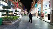 实拍广西贺州昭平县步行街夜景