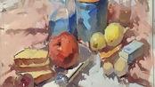 中国美术学院懂亚江老师色彩范画深入阶段、洛阳华艺画室
