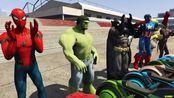 HOMEM ARANHA HULK BATMAN E AMIGOS COM MOTOS FUTURISTAS NO AEROPORTO! MOTOS COM S