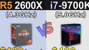 R5 2600X (4.3GHz) Vs. i7-9700K (5.0GHz) - 1080p和1440p分辨率 - New Games Benchmarks