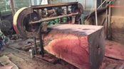 小作坊加工大木头, 这技术让我刮目相看