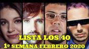 [Los 40]西语西班牙Los 40 音乐排行榜(2020年2月第1周)#Listas Música