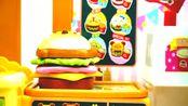 育儿早教益智玩具动画,SEGA迪士尼儿童汉堡店过家家玩具!