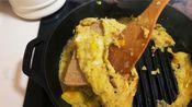ins美食:蛋饼包吐司芝士火腿三明治|高能早餐|快手|Leslie大王下厨房|好吃|vlog